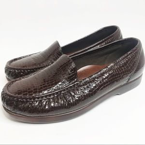SAS embossed leather loafers sz 11